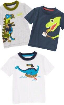 Gymboree 2T Green Dino Tee Shirt Sneakers Dinosaur Boys New