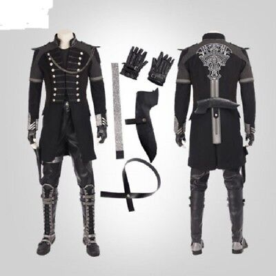 Kingsglaive Final Fantasy XV Nyx Ulric Cosplay Costume Deluxe Outfit any  size