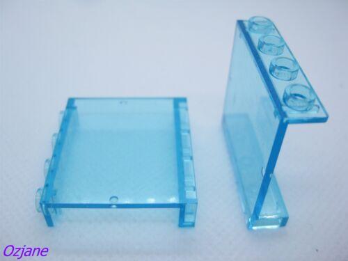 LEGO PART 4215b TRANS LIGHT BLUE PANEL 1 X 4 X 3 SET OF TWO