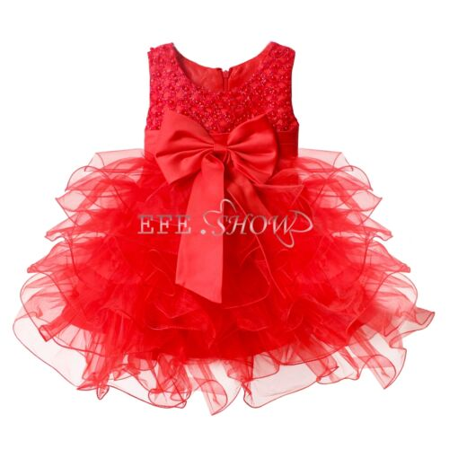 Baby Girl Princess Pageant Wedding Birthday Party Formal Flower Dress Photo Gift
