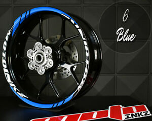 YAMAHA R1 RIM STRIPES WHEEL DECALS CUSTOM STICKERS TAPE YZF red blue yellow pink