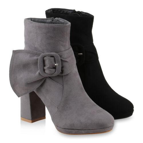 Damen Klassische Stiefeletten Schnallen Modische 818240 Schuhe