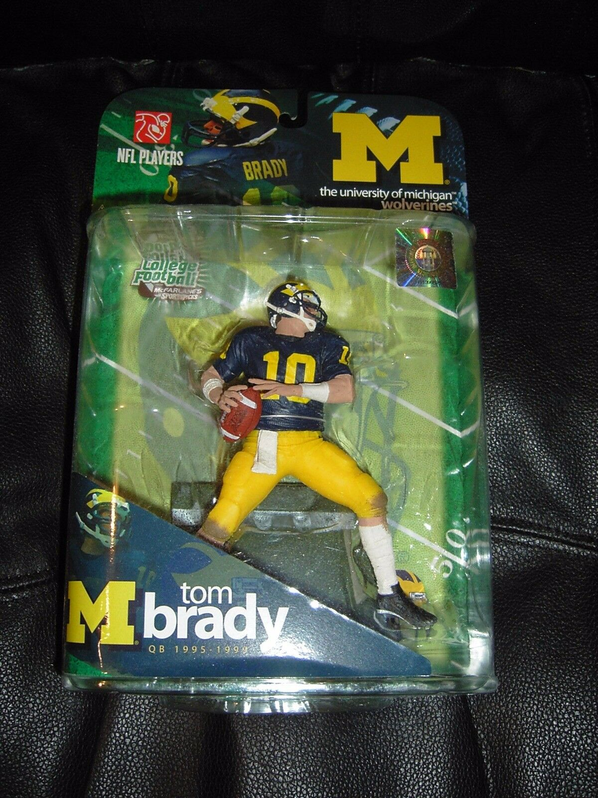 Tom Brady Figure Sports College NCAA Series 1 Brand Nuovo 2009