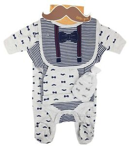 cee85851eb44 Baby Boy Clothes 5 Piece Gift set layette Little Gents Newborn 0-3 ...