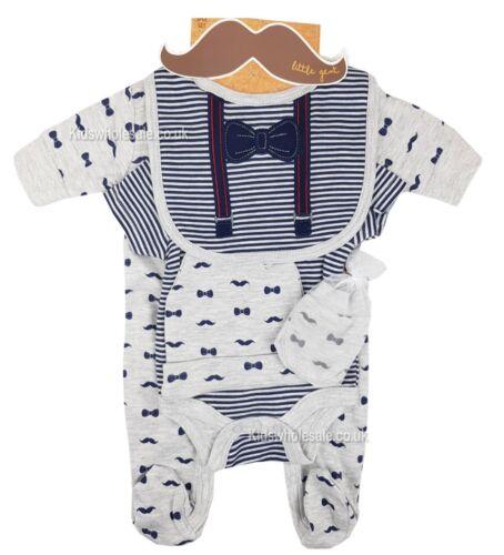 Ropa para bebé niño 5 piezas Conjunto de Regalo Layette poco Caballeros recién nacidos 0-3 meses 3-6 M