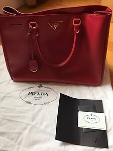 257915cc9c2159 Image is loading Authentic-Prada-saffiano-lux-large-tote-russo