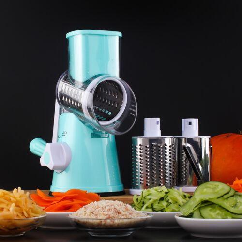 Roller Vegetable Cutter Manual Round Mandoline Slicer Potato Carrot Julienne ii