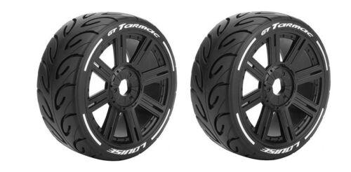 2 Louise RC GT-TARMAC supersoft Speichen-Felge schwarz Verbrenner 1:8 Hex17mm
