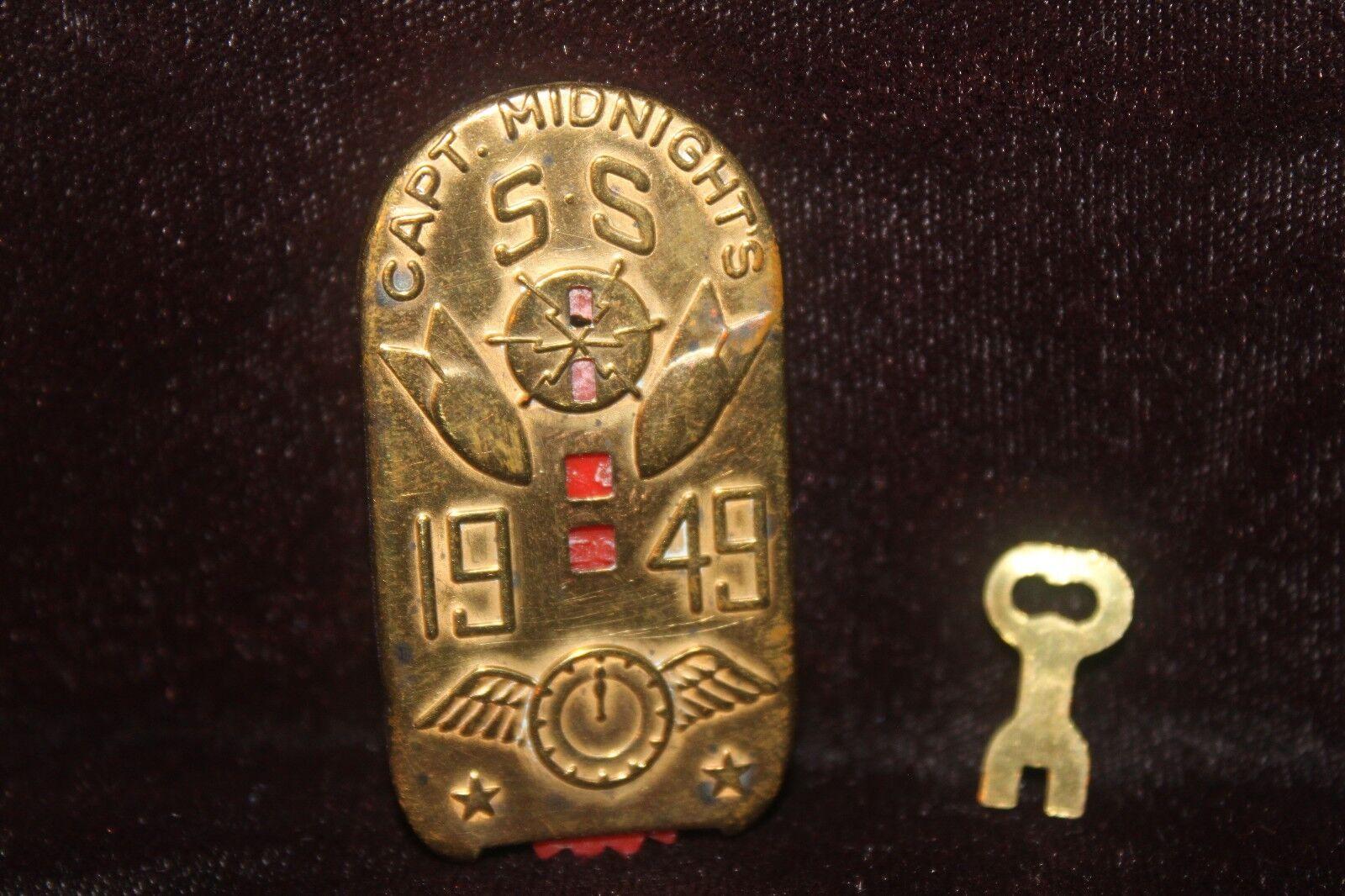 Capitán Medianoche 1949 ss clave-o-matic decodificador con llave radio Premium Excelente