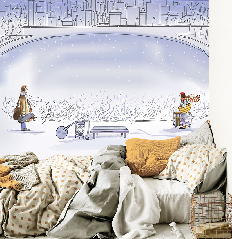 3D Romantic painting 3 Wall Paper Wall Print Decal Wall Deco Indoor wall Murals