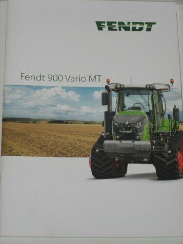 FENDT 171 FENDT 900 VARIO MT Raupentraktoren Traktoren Prospekt von 09//2017