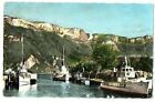 CPSM 74 Haute-Savoie Lac d'Annecy Le Port et le Mont-Veyrier bateaux