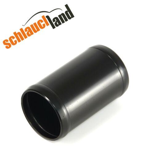 Alu-Verbinder AD 45mm schwarz***Alurohr Aluminium Rohr Schlauchverbinder Turbo