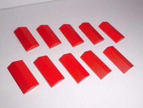 10 Dachfirste 33° 2x4 in rot aus 8672 8375 8060 10185 3299 Lego