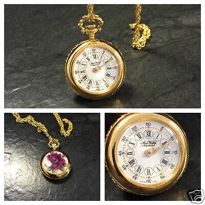 Silber Taschenuhr Silberkette Aero Watch Neuchatel Swiss