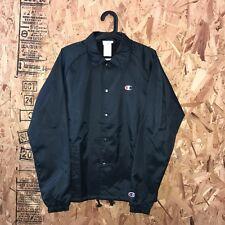 CHAMPION COACHES JACKET BLACK SIZE LARGE NEW WITH TAGS RS