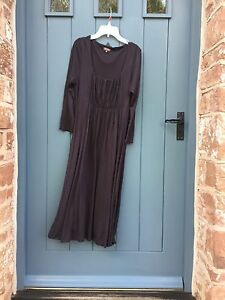 BNWOT-NEW-Ladies-PHASE-EIGHT-designer-soft-jersey-retro-boho-DRESS-brown-UK-12