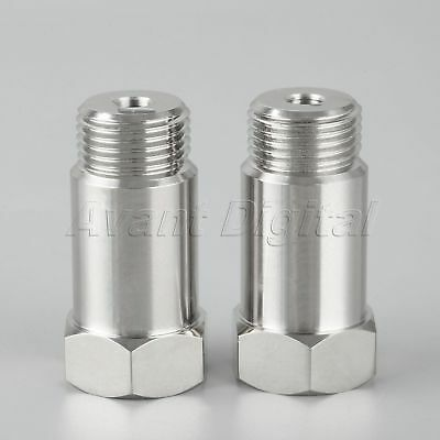 2 Pcs Straight M18X1.5 O2 Oxygen Sensor Extension Spacer Extender Adapters 55mm