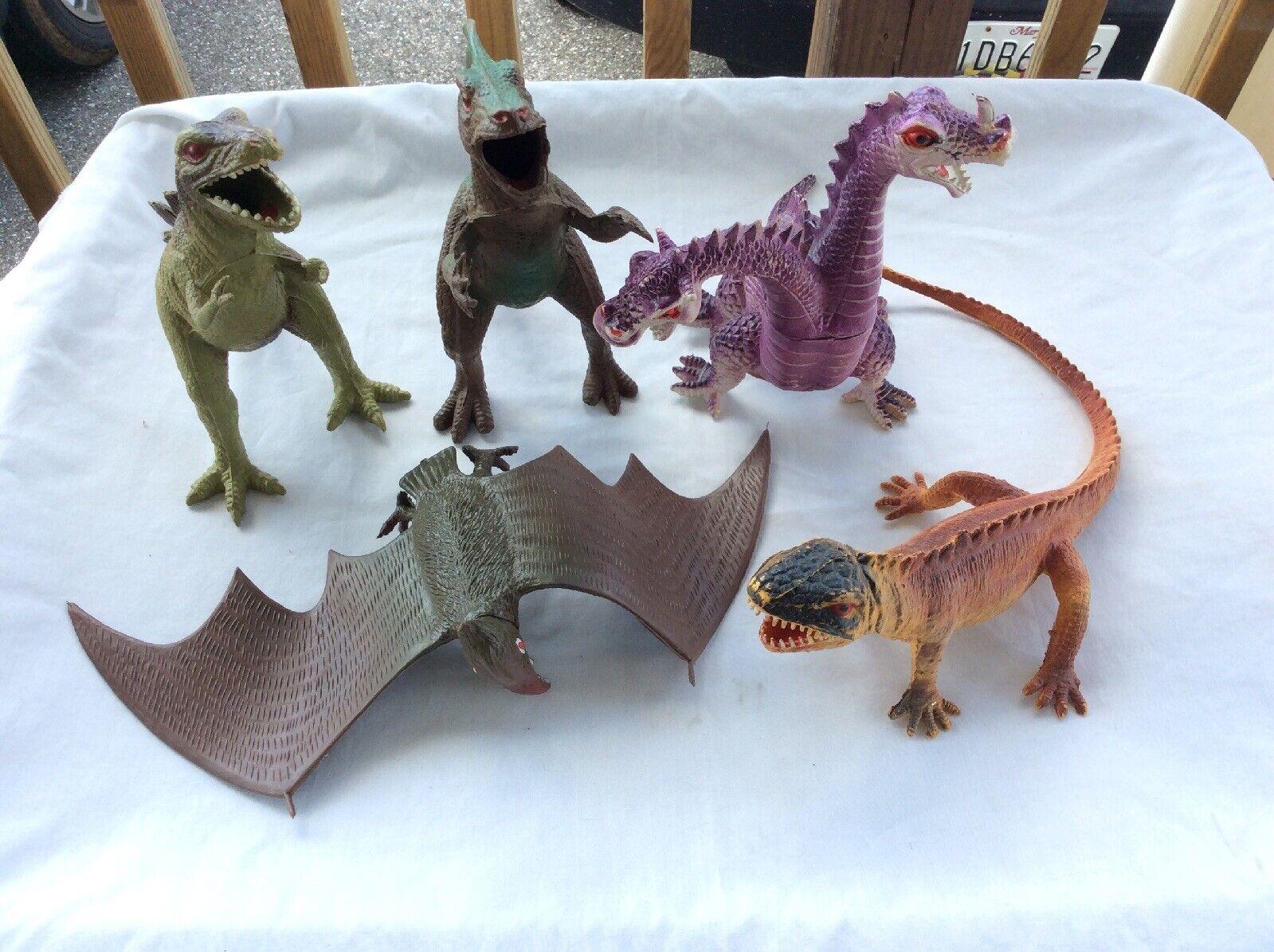 197983 IMPERIAL giocattolo DINOSAURO LOTTO giocattoliRNoi in Gomma Plastica due teste Dragon BAT