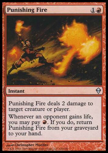 Magic the Gathering MTG 4x Punishing Fire x4 LP/LP+ x 4 Zendikar Playset