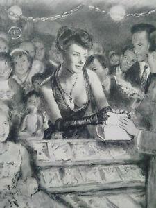 Rare-curiosa-Paul-Emile-Becat-gravure-parfait-etat-estampe-Art-Deco-La-Garconne