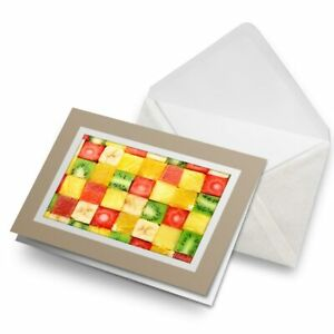 Greetings-Card-Biege-Colourful-Funky-Fruits-Healthy-Vegetables-8670