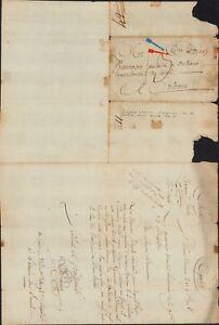 1798 France Enveloppe Sans Housse Italien Révolutionnaire Army Eighth Année