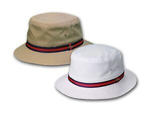 Bucket-Hat-Rain-Resistant-Cotton-Boonie-Cap-White-Khaki-S-M-L-XL-Hunting-Fishing