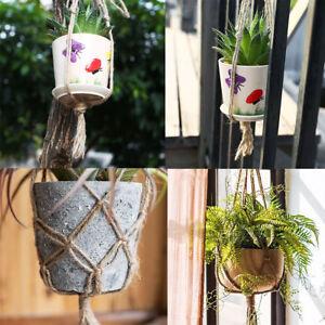 770mm-990mm-Hemp-Rope-Macrame-Plant-Pot-Hanging-Holder-Basket-Home-Garden
