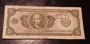 Colones Bill Currency Dinero Banknote