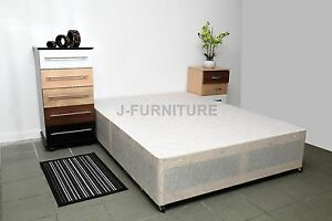 4ft6 double divan base in white 4 drawers super price for Double divan bed base with 4 drawers