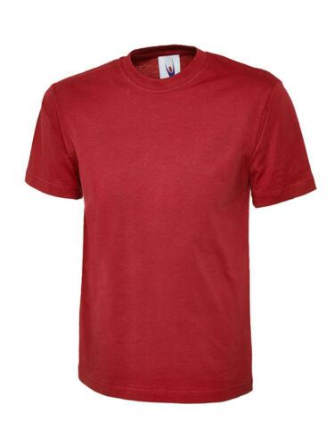 UNEEK Kids Plain T Shirt Boys Girls Children High Quality Crew Neck Cotton Tee