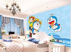 3D bluee Jingle Cat 733 Wallpaper Mural Paper Wall Print Wallpaper Murals UK Kyra