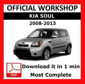 official workshop manual service repair kia soul 2008 2013 rh ebay co uk 2013 kia soul repair manual pdf 2013 kia soul repair manual