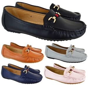WOMENS FLAT LOAFER WORK SMART CASUAL