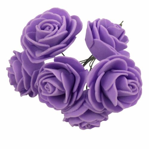 Craft Buttonhole Small Mini Flowers 2x Bunches 4cm Small Foam Open Roses