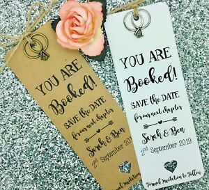 bookmark save the date evening card wedding invitation