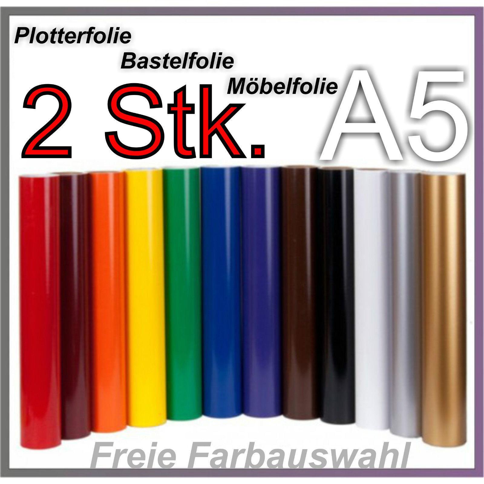 2x DIN A4 Bastelfolie Möbelfolie Folie Plotterfolie Klebefolie z.B Hellblau