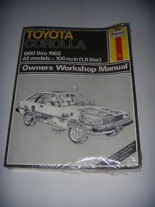 Haynes-Owners-Workshop-Manual-No-961-Toyota-Corolla-1980-1982-Sealed