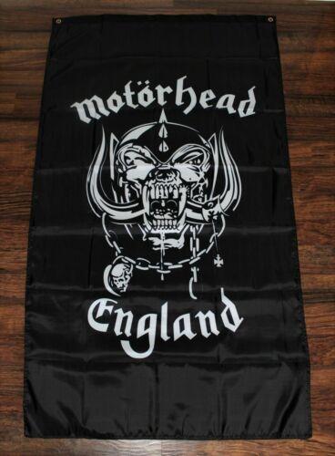 Motorhead Banner Flag England Lemmy Ace of Spades 3x5 Rock Band Snarling Dog New