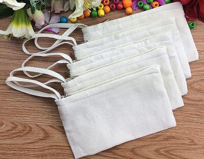 20x DIY Eco Blank Plain Canvas Makeup Bags Purse Wallets Phone Pouch Pencil Case