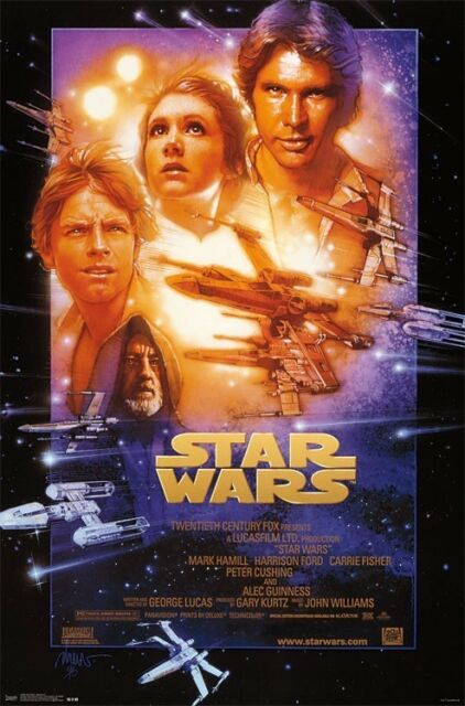 Star Wars Episode Iv A New Hope Movie Poster 22x34 882663038282 For Sale Online