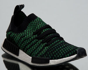 Details about Adidas Original NMD r1 Primeknit Stealth Pack Mens New Black Green Shoes show original title