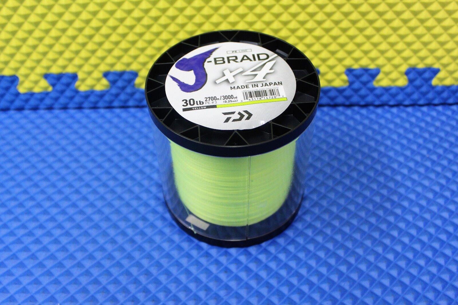 Daiwa JBraid X4U 302700Y Fluorescent giallo 30lb 3000yd 40002069