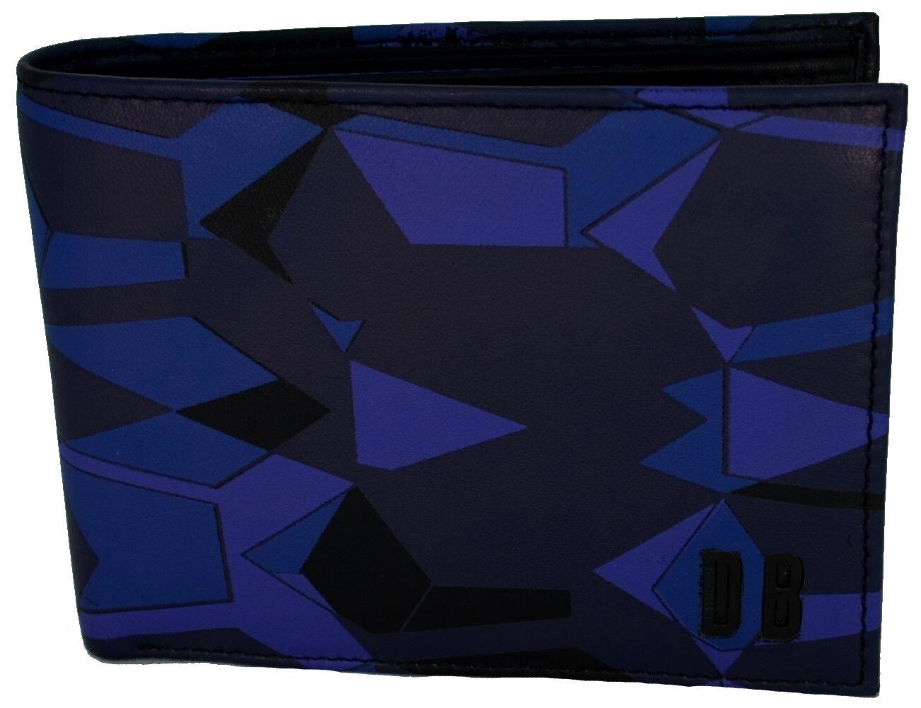Men's Wallet Geometric Camouflage-bluee Bikkembergs Wallet Geometric Camo-bluee