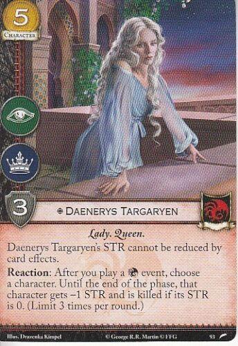 Daenerys Targaryen AGoT LCG 2.0 Game of Thrones The Faith Militant 93