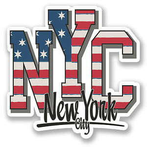 2 x 10cm new york city usa vinyl sticker travel luggage tag car laptop fun 5 - Stickers geant new york ...