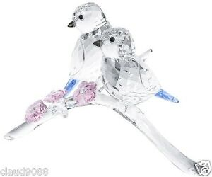 SWAROVSKI-SILVER-CRYSTAL-034-BLUE-TITS-BIRDS-COUPLE-034-5004727-MINT-IN-BOX