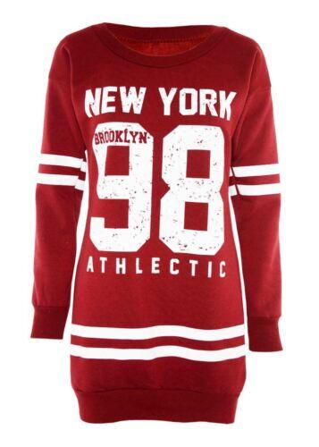 Da Donna,ragazza New York Brooklyn 98 Tori 69 Oversize Mini Abito Lungo Felpa