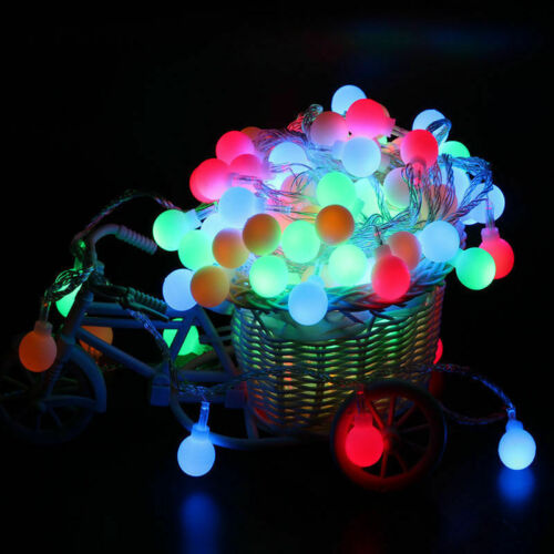 3M 4M 5M Fairy LED String Lights Christmas Round Ball Blubs Wedding Party Lamp
